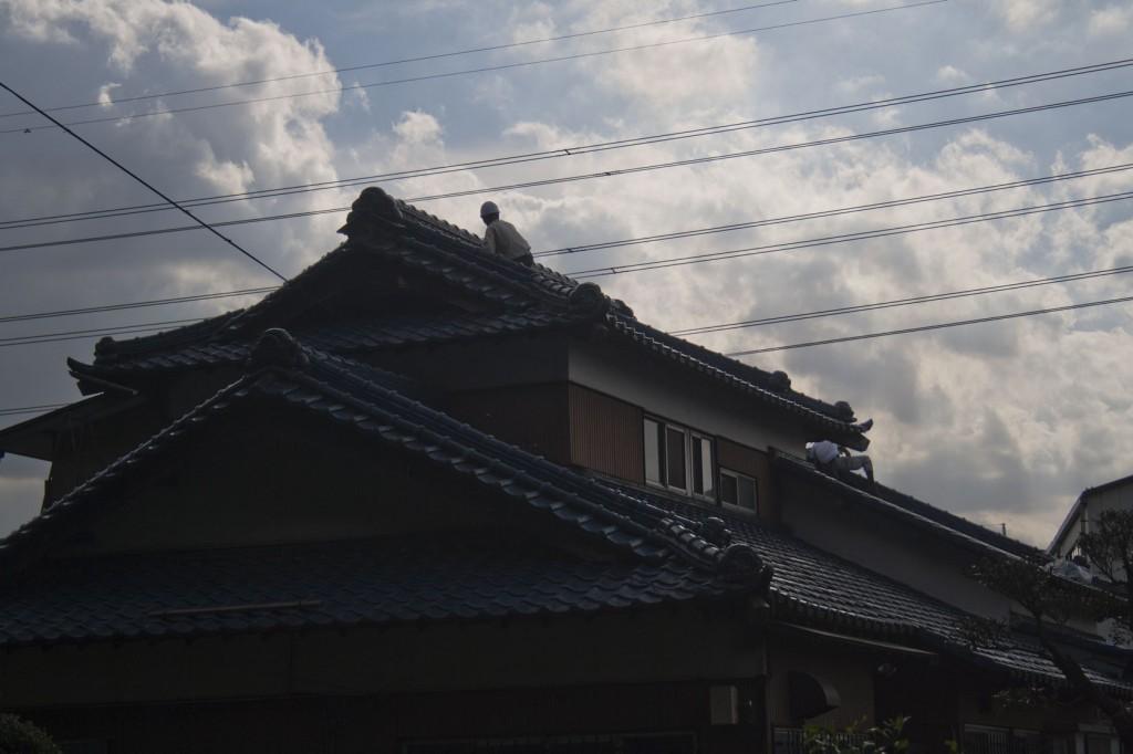 Haus mit tempelähnlicher Architektur im Umfeld des Hierin-Ji
